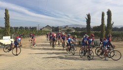 Cyclists at Wrath Wines